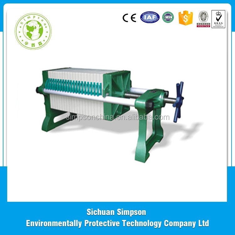 The top design Hot sell plate frame filter press for Sewage treatment in Chinese factory