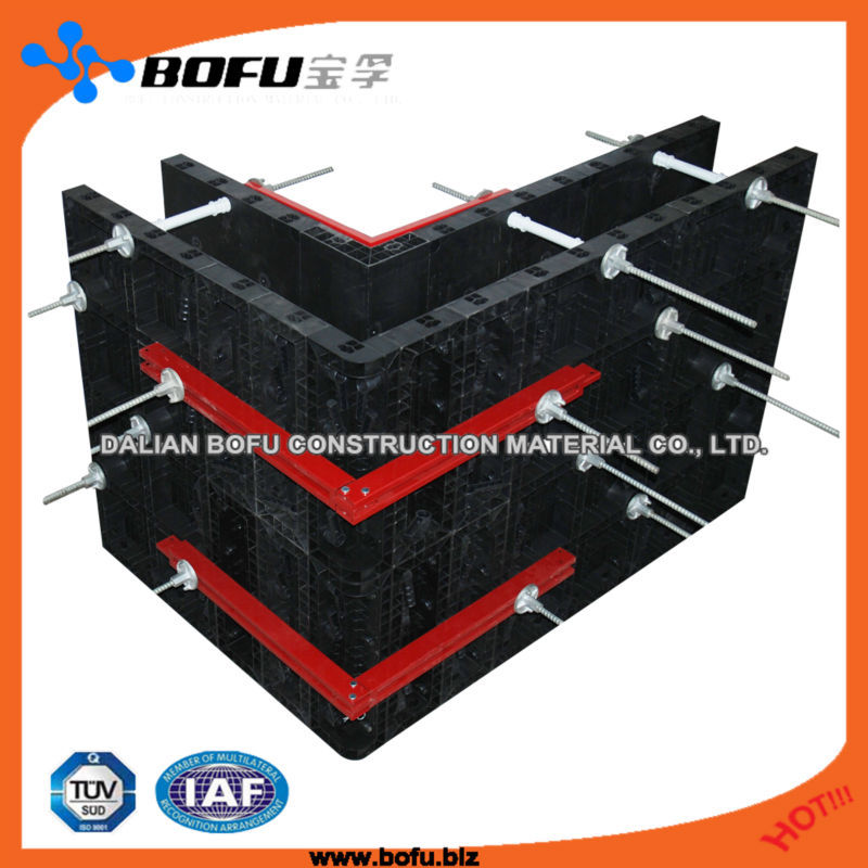 BOFU plastic formwork <strong>system</strong>, construction formwork, recycle high strength plastic