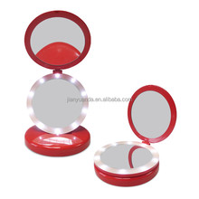Foldable desktop makeup mirror with LED light/5X magnifying mirror