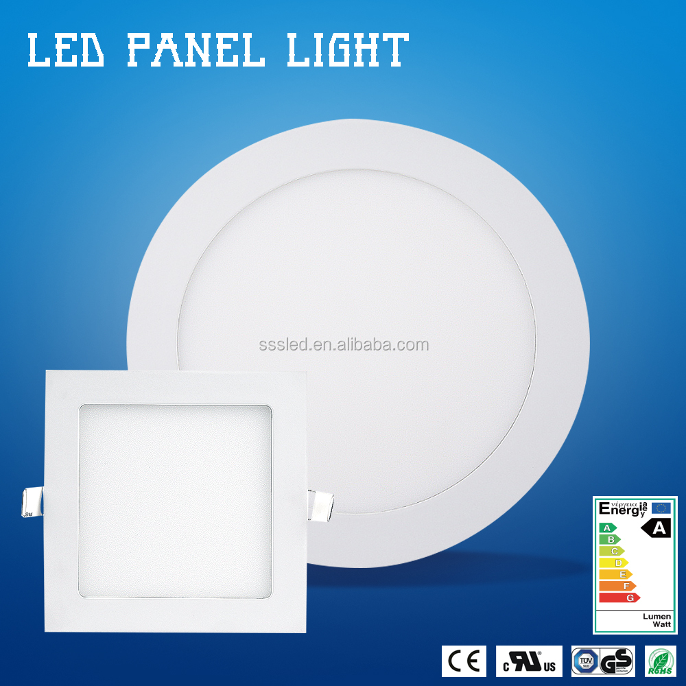 100lm/w high quality low price 15W 7 inch surface recessed round ultrathin led panel light embeded028