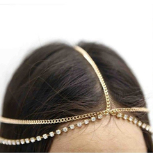 Fashion Women Metal Gold Silver Multilayer Boho Head Chain Headband Headpiece Bridal Wedding Hairstyle Hair Accessories