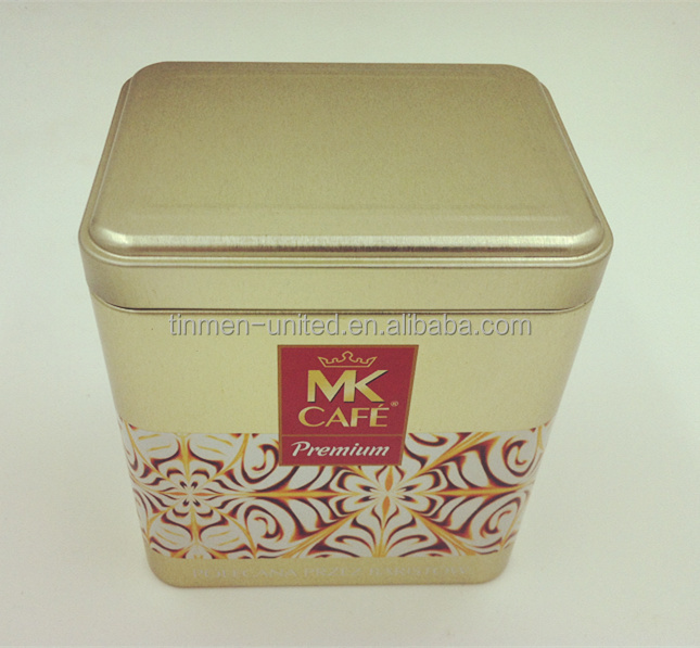 Mooncake tin can rectangular food packaging tin box