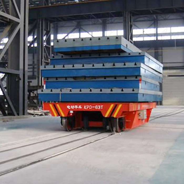 large table material handling equipments for transport trailer on rails