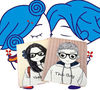 cartoon boy&girlipad mini cover, quilted puipad mini cover