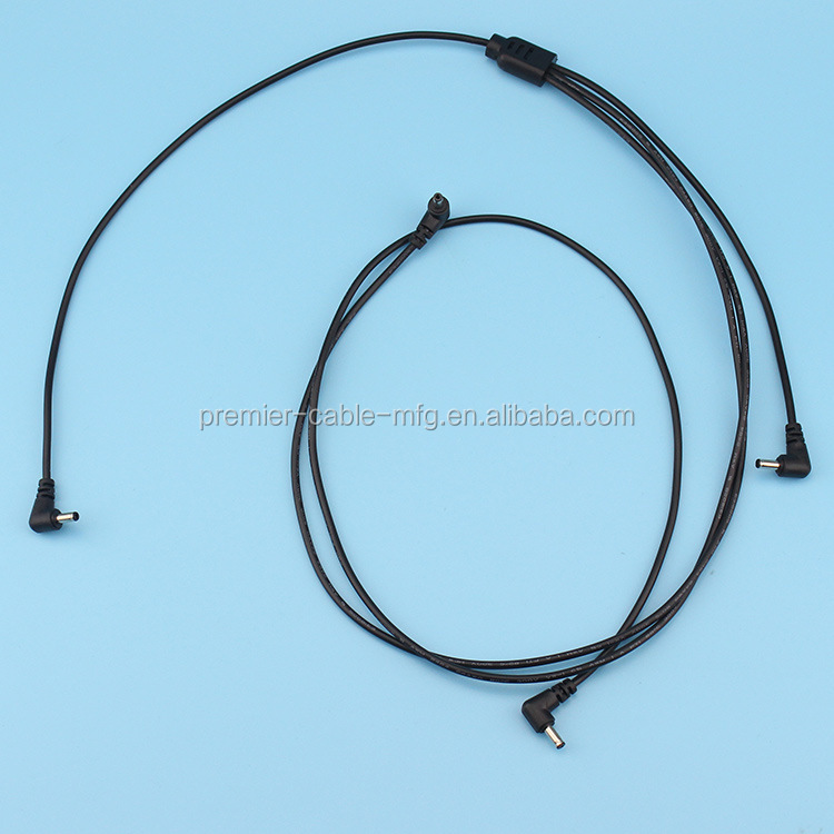 DC 2.1 Y Splitter Cable Power Lead 5.5x2.1mm 1 Male to 3 Male Plug for Auto Backup Camera Monitor CCTV LED Stripe Lights