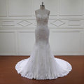 HD004 pictures of latest design 3D lace mermaid wedding dress bridal gown