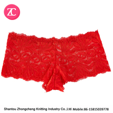 Adult Sexy Women's In Lace Cute Red Underwear/Ladies menstrual period panty