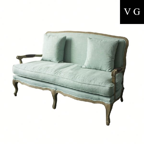 European style design furniture waiting room chair loveseat two seat chair
