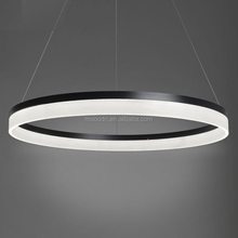 Modern Simple Living Room Hanging Decorative Cycle ring acrylic LED Indoor pendant Light