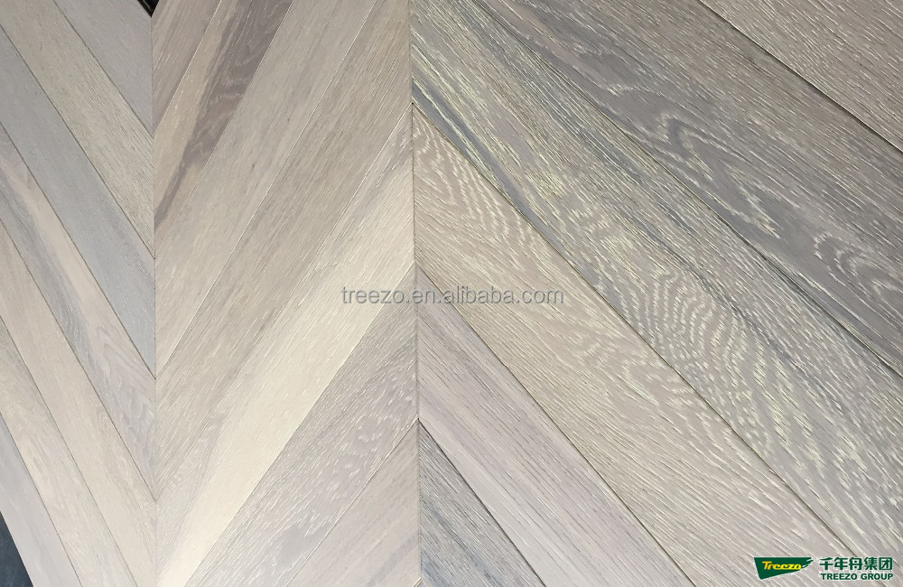 45 angle fish bone natural oak engineered wood flooring factory supply
