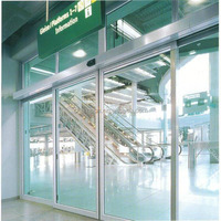 HD019 new technology dual motor automatic glass sliding door for commercial