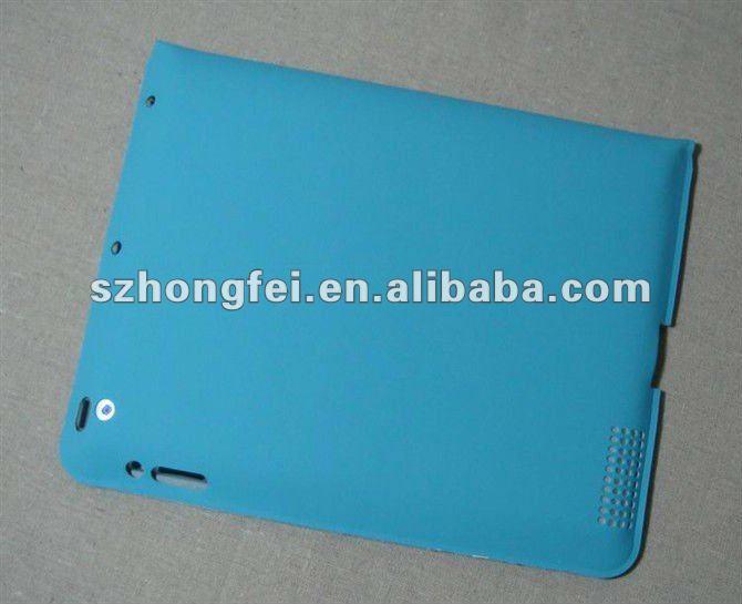Soft Touch Body Cover with Foldable Stand for iPad2