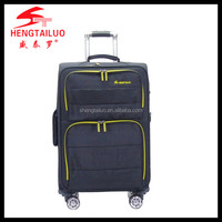 In stock nylon trolley luggage wheeld luggage wholesale luggage cover for long distance traveing