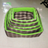 Lowest price and clean OEM green lattice fabric Cotton Pet Bed dog house bedding