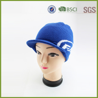Fashion blue knitcrochet Ladies winter hats for wholesale