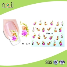 100% Real Nail Polish Sticker ,60 Different Flower Designed Nail Art Sticker