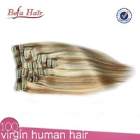 2015 New Arrival 120g/pack 100% Brazilian Hair Clip-On Hair Extension