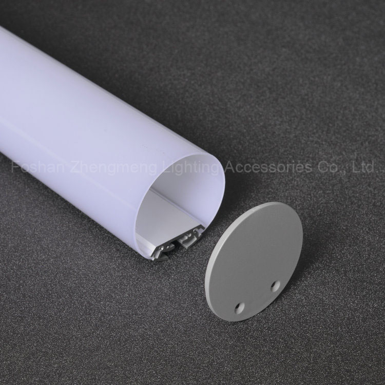 1000mm*60mm*60mm Round shape suspension linear led aluminum profile, led aluminum channel