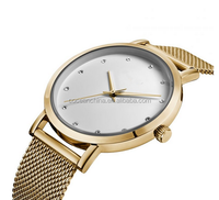 Lady gold watch with changeable strap