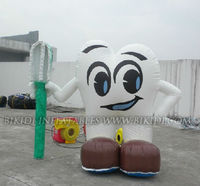 inflatable tooth with toothbrush, inflatable replicas, balloon inflatable K3023