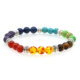 Healing Reiki Yoga Jewelry 7 Chakra gemstone 8MM Round Beads Stretch Bracelet
