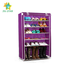 PN 8 tiers non-woven faric cover simple shoe storage rack on sale cheap shoe cabinet