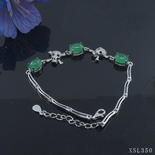 XSL-350B vintage silver bracelet anchor bracelet china jewelry factory with moonstone