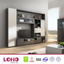 Now desing living room wood wall cabinet tv unit design for hall