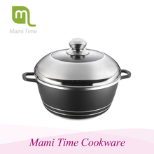 OEM acceptable steamer cooking pot with wire handle With Promotional Price