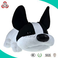 Hot sale black and white stuffed plush dogs