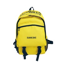 2017 New Korean style men's backpacks pure color backpack fashion trend Japanese and Korean middle school students bookbag with