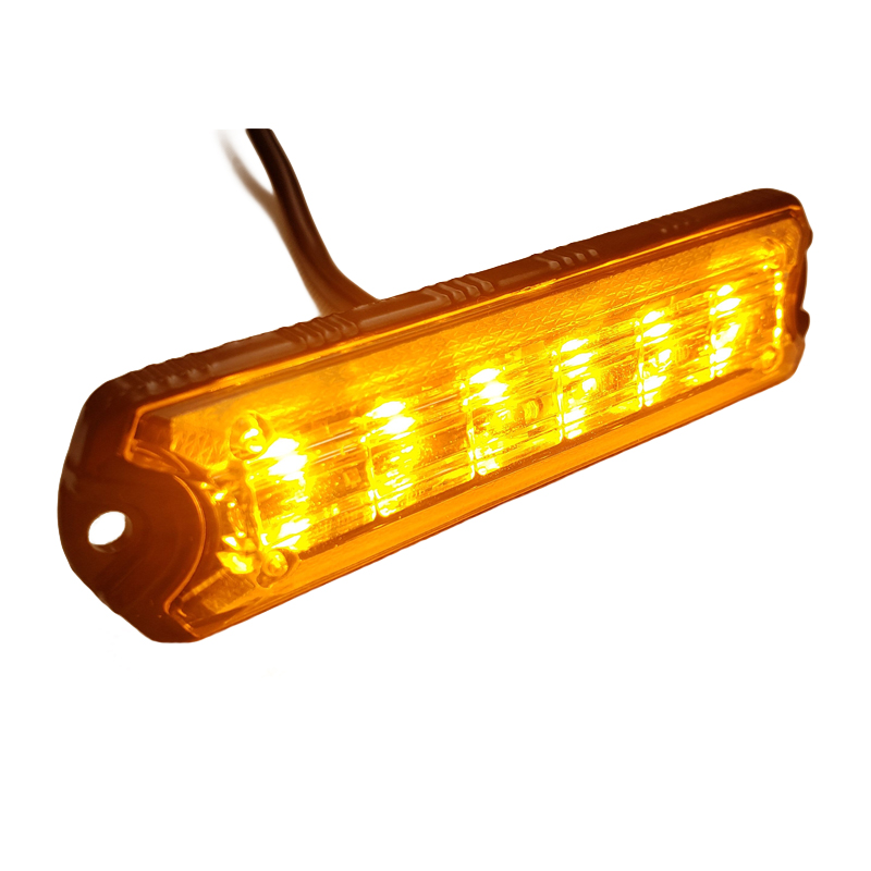 New Arrival <strong>12</strong>-24V 6 LED surface mount warning Grille Strobe Lighthead