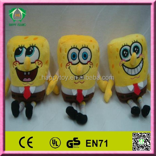 HI EN71 2014 hot sale funny sponge bob stuffed toy