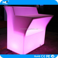 magic and colorful LED plastic and transparent bar counter / LED Glowing and transparent bar counter