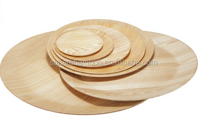 wooden simple pressed plate serving tray