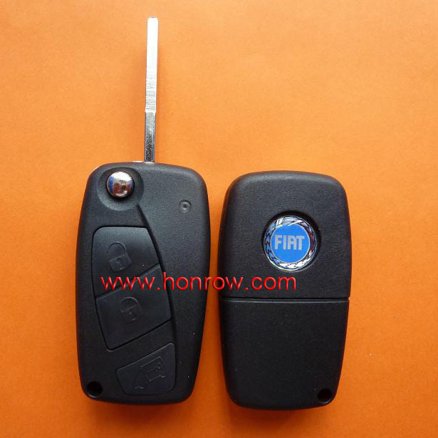 Novel Item Fiat 3 button flip remote key blank (Black Color) with 50% free shipping free