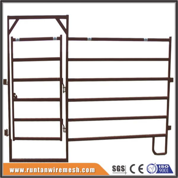 Trade assurance cattle slide gate, pipe corral fence panels