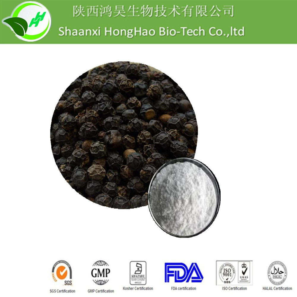 ISO9001/Halal/Kosher/GMP supply natural 95%/98% Piperine Black Pepper Fruit Extract