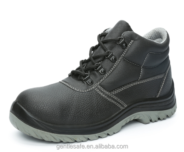 Steel toe PU injection safety shoes