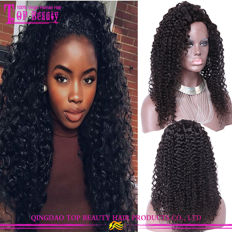 Qingdao Lace Wig Vendors Fast Delivery Beautiful Human Hair Full Lace Sew In Curly Wig