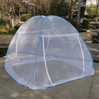 Folded Mongolia mosquito net tent/ Bed canopy/Free-standing mosquito net, Autoportante moustiquaire
