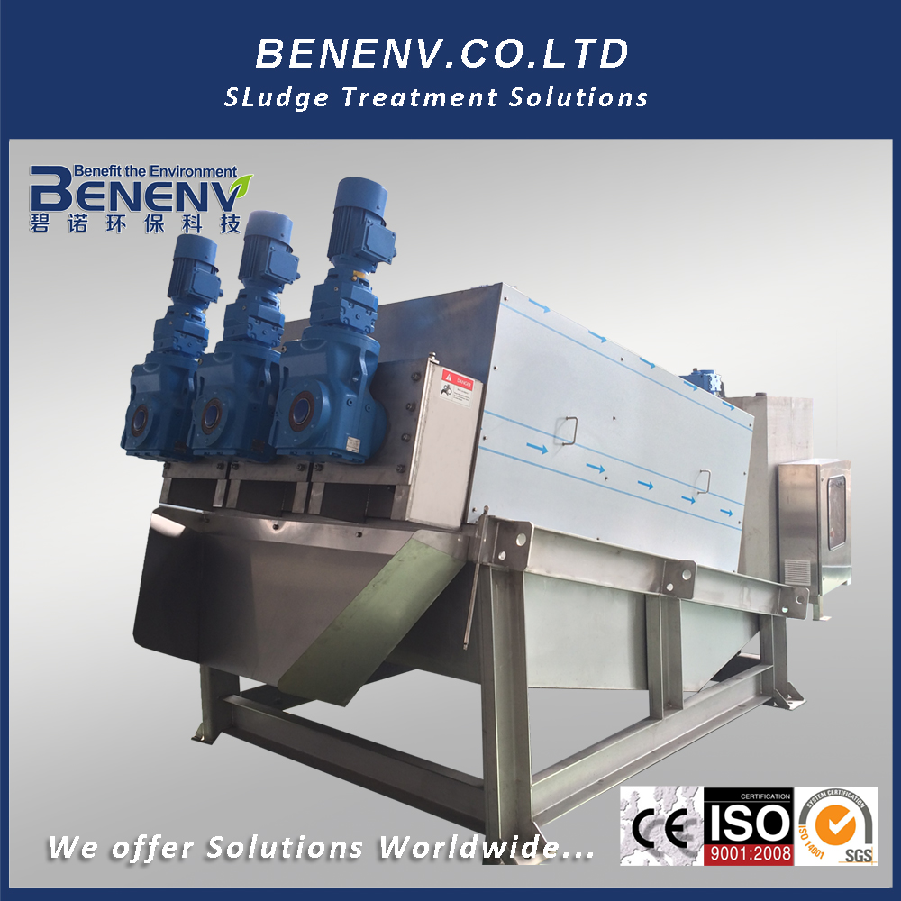 screw press sludge separation machine with self-cleaning function