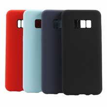Liquid silicone case New mobile phone case for samsung Galaxy s7, s7 edge, S8, S8+, note 8