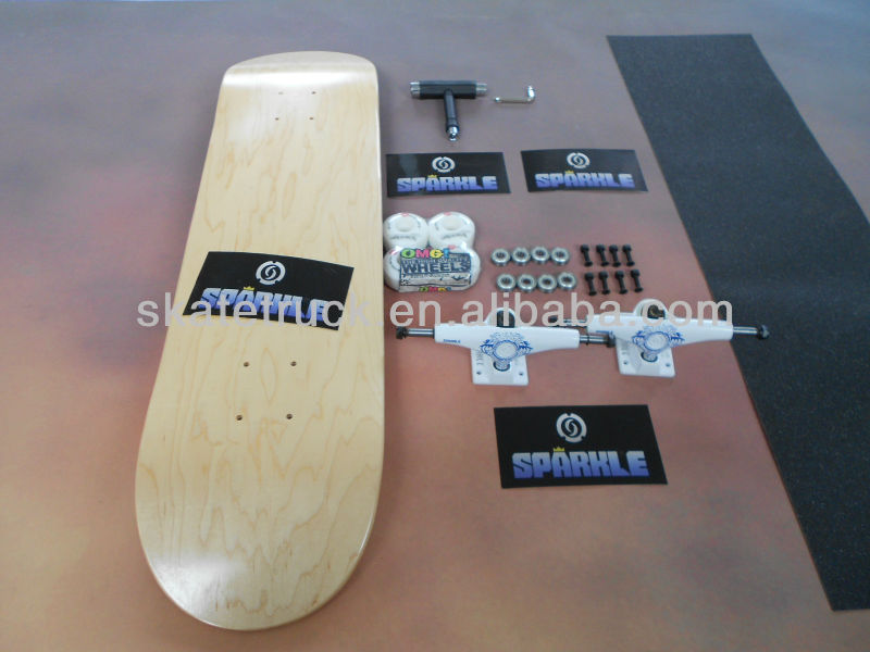 Wholesale Professional Skateboard Complete with Sparkle Trucks, OMG wheels
