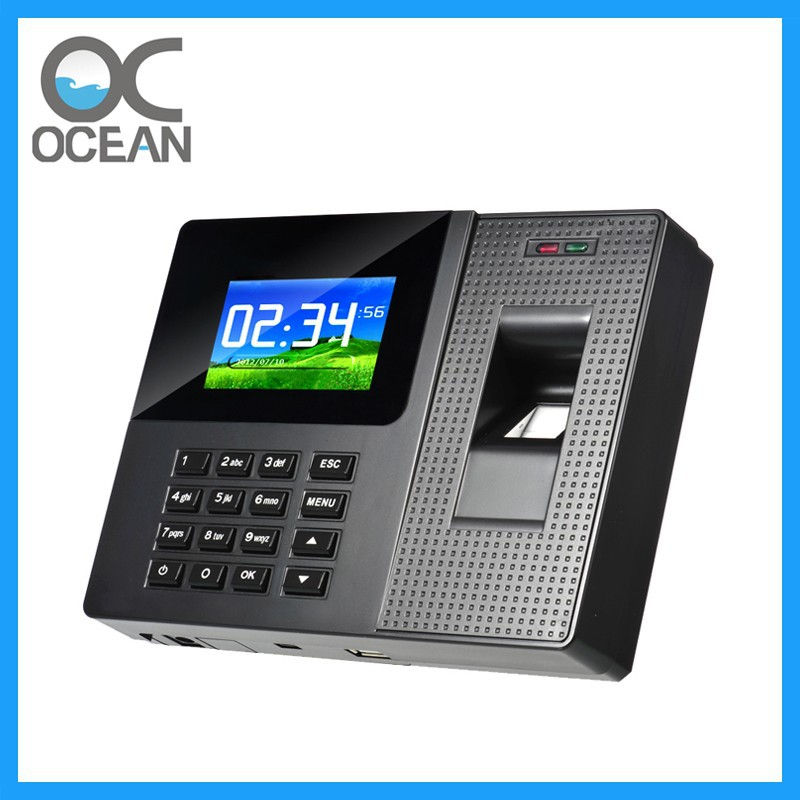 OC075 USB U-DISK 2.8Inch Color Screen Fingerprint Time Attendance Machine Date Time Stamp Machine