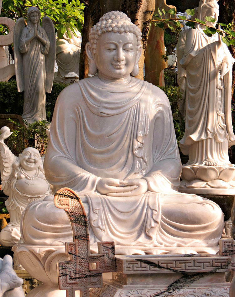 outdoor decoration hand carved buddha vietnam marble sculptures