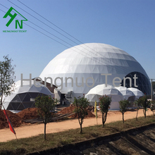 20m Large Steel Geodesic Dome Tent With Printing In Car Park