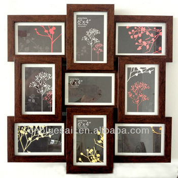 Wilko Photo Frame Multi Aperture Photo Frame Dark Wood