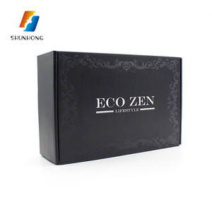 New products small Cheap black gift packing shoe paper display cardboard corrugated box
