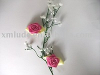 satin ribbon rose,red rose,artificial flower